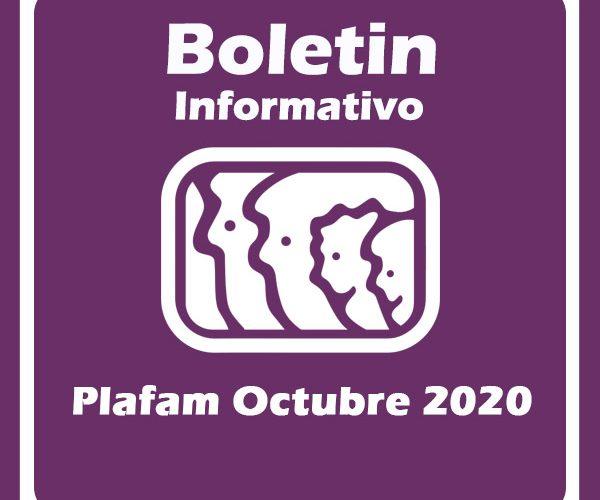 Boletín informativo Plafam Octubre 2020